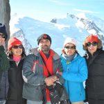 El grupo en L'Aiguille de Midi