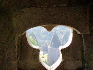 Castillo de Josselin desde la torre de la Catedral