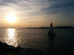 Ría de Vigo vista desde el Paseo dos Peixes de Bouzas