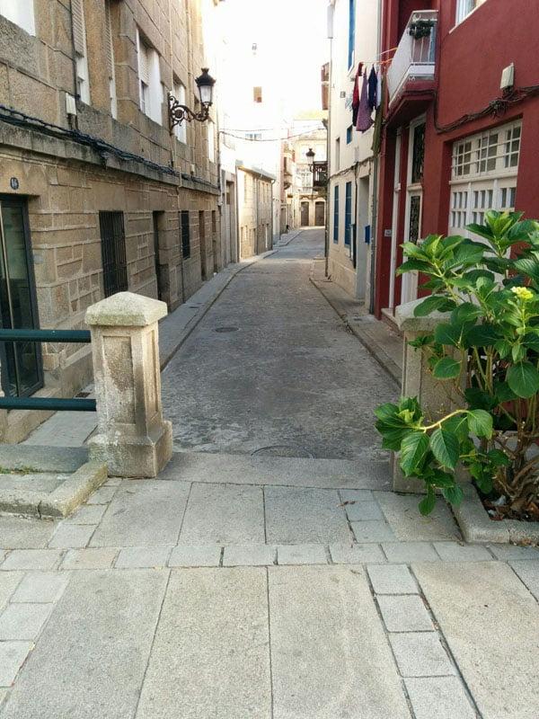 Calle marinera de Bouzas