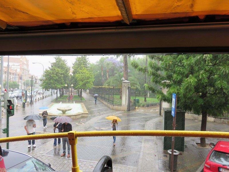 Jardines de Colón desde el bus
