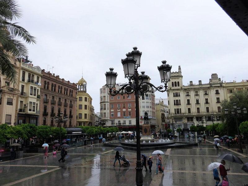 Plaza de las Tendillas desde el bus