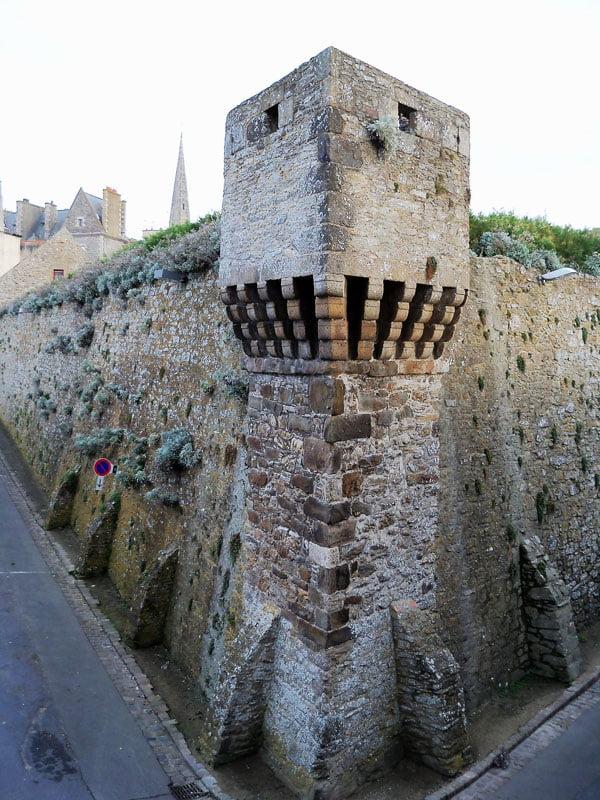 Torreta en Saint Malo en Bretaña