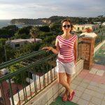 En la costa de Procida en Italia