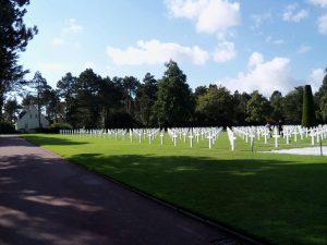 Panorámica del cementerio americano de Normandía
