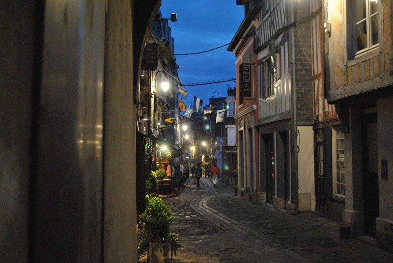 Rue Haute en Honfleur