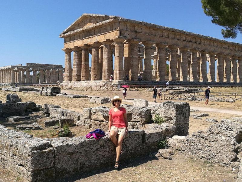 Vista del templo de Neptuno