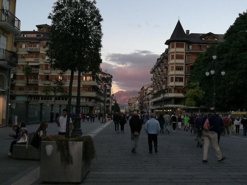 Calle Corso Vittorio Emanuele II en Avellino