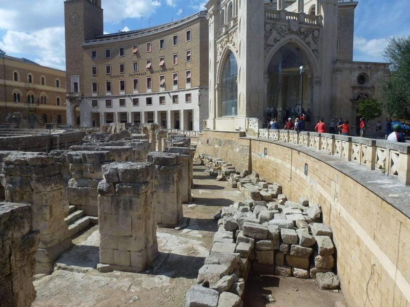 Anfiteatro y Sedile en Lecce
