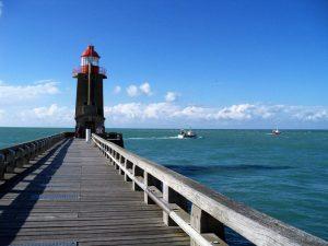 Faro en Fécamp en Normandía