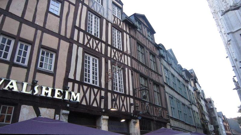 Casas Rue Martainville en Rouen en Normandía