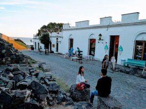 Casco histórico de Colonia del Sacramento en Uruguay