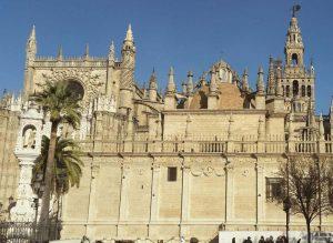 Catedral, Giralda y Templete de la Virgen del Triunfo en Sevilla