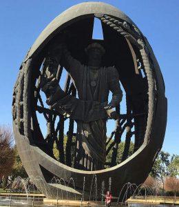 Monumento a Colón en le parque de San Jerónimo de Sevilla