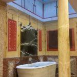 Dentro de las Casas de la Judería en Sevilla