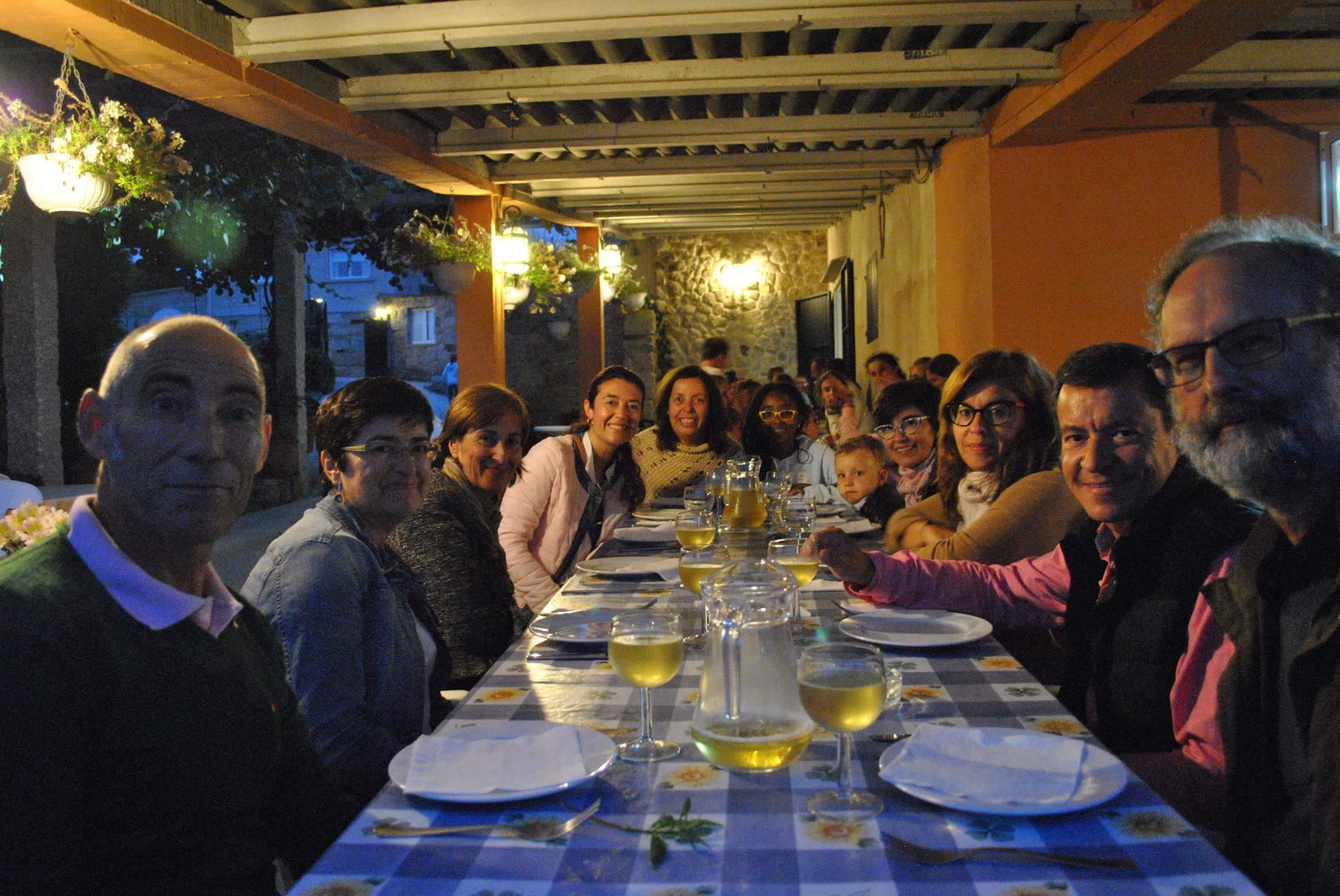 Cena en el furancho de Martín y Tibi