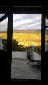 Vista desde la casa rural en Capileira