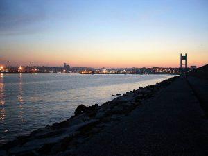 Vista desde el dique de abrigo de A Coruña
