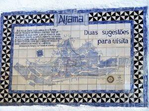 Cartel del barrio de Alfama