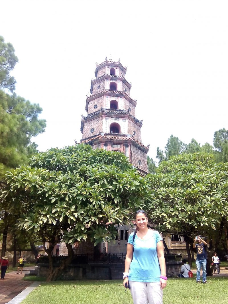 Pagoda Thien Mu en Hue en Vietnam