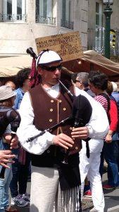 O gaiteiro en Bouzas