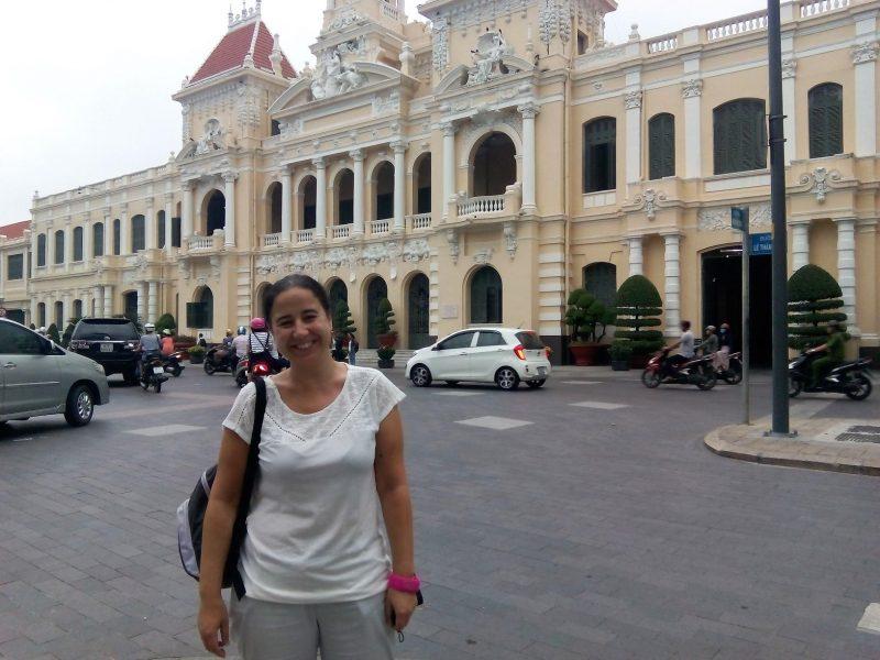 Edificios coloniales en Ho Chi Minh