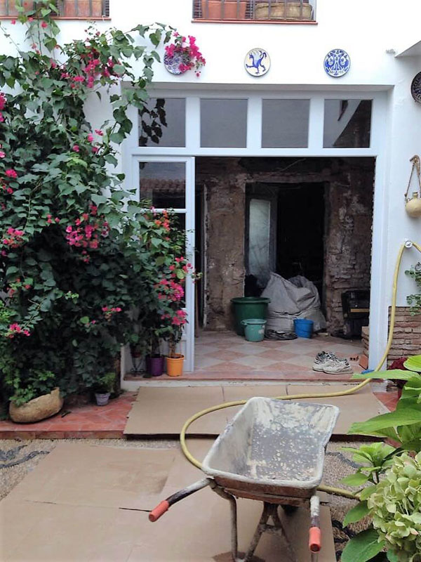 Obras en el patio Juan Rufo de Córdoba