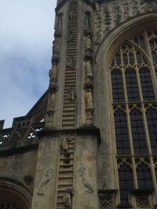 Detalle de la fachada occidental de la Abadía