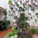 Nuestra colaboradora Carmen del Río en el Patio Juan Rufo de Córdoba