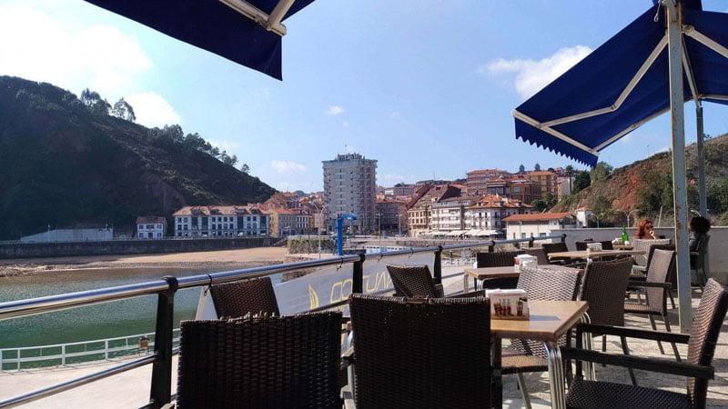 Candás vista desde el puerto