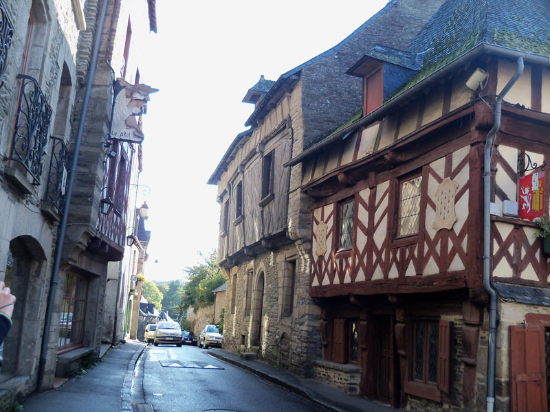 Calles de Josselin en Bretaña