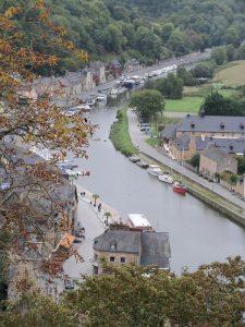 Río Rance en Dinan en Bretaña