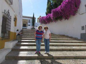 En la escalinata de la cuesta del Bailio en Córdoba