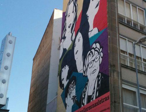 Mulleres nas letras galegas en el arte urbano de Vigo