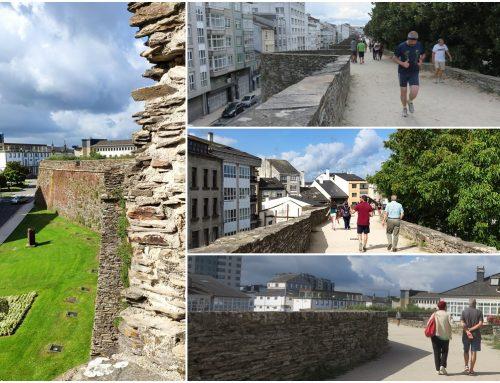 Un paseo peatonal que bate récords: la muralla de Lugo
