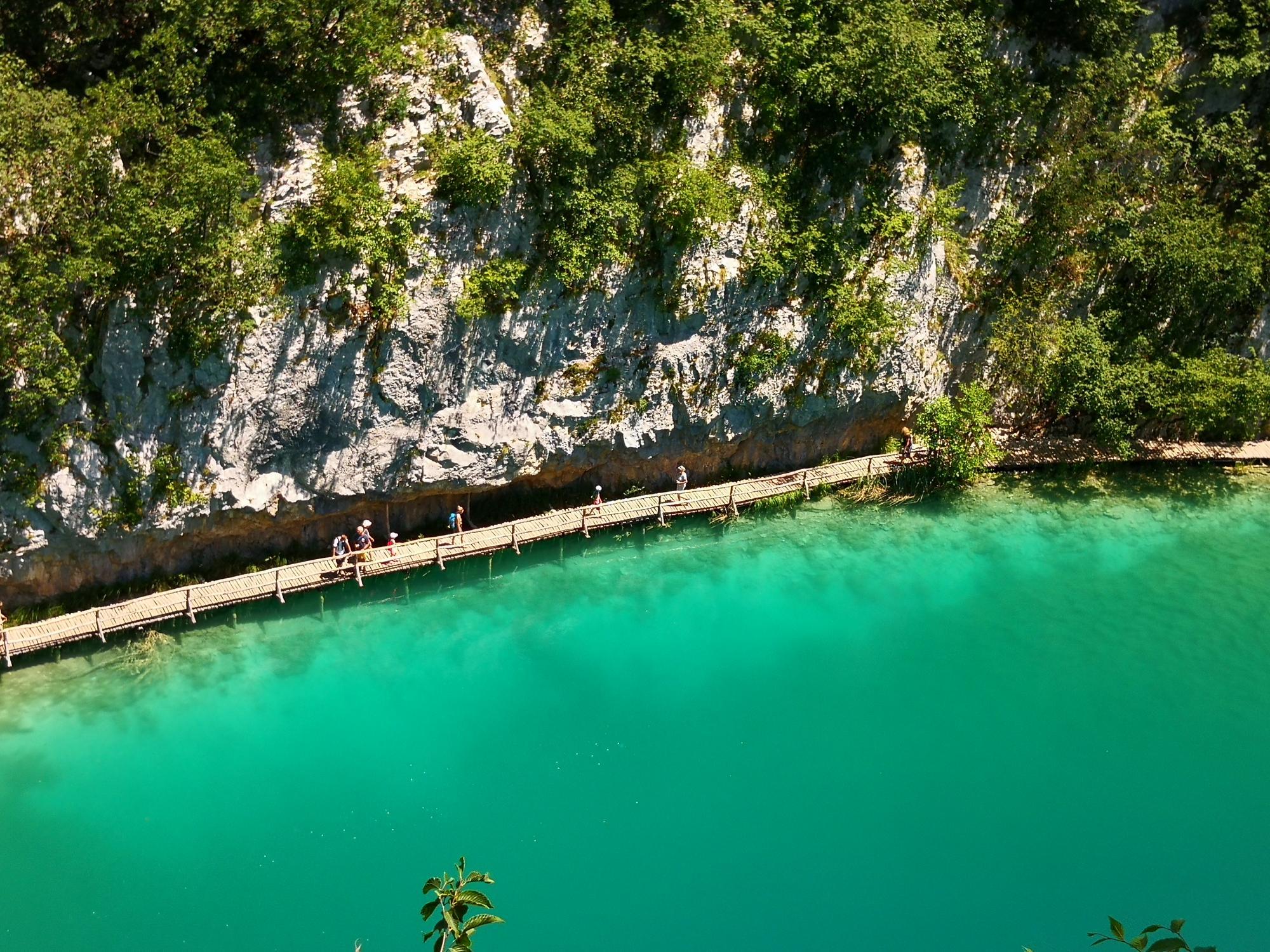 Paserela inferior en los Lagos Plitvice