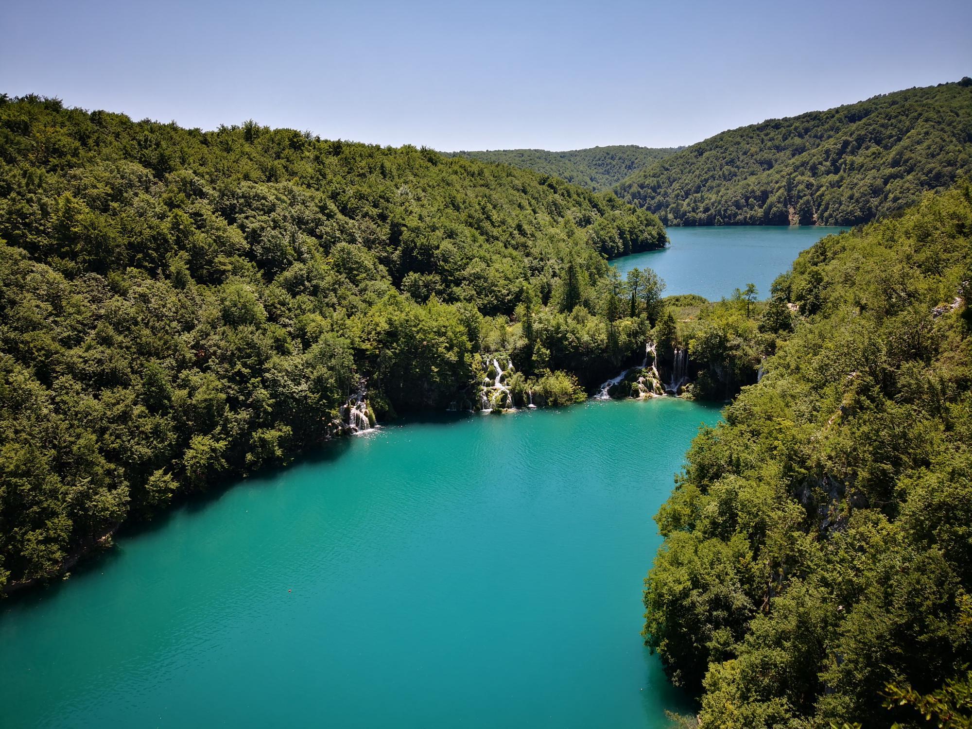 Conexión entre los lagos Milanovac y Korana