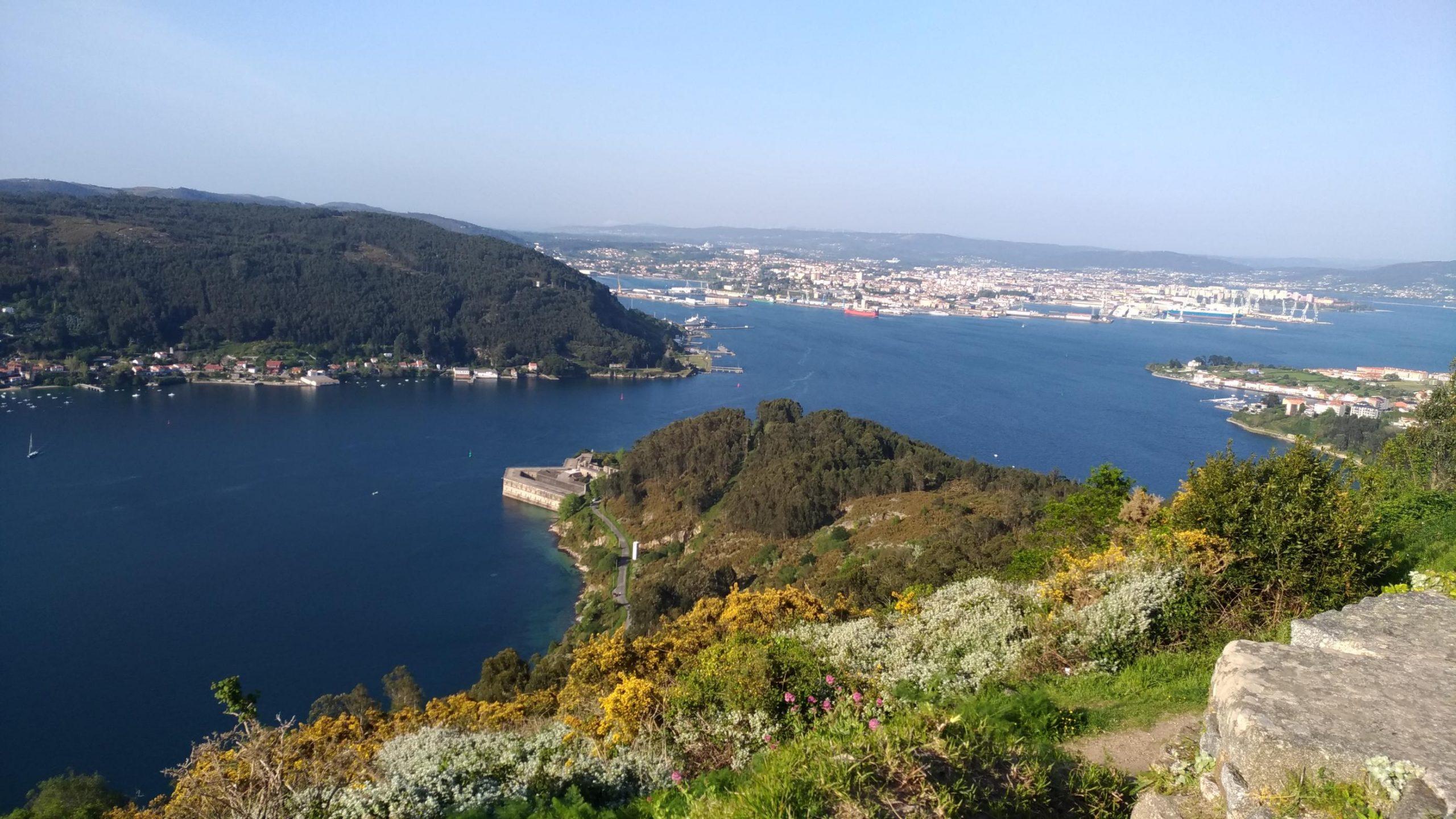 Ría de Ferrol desde Montefaro