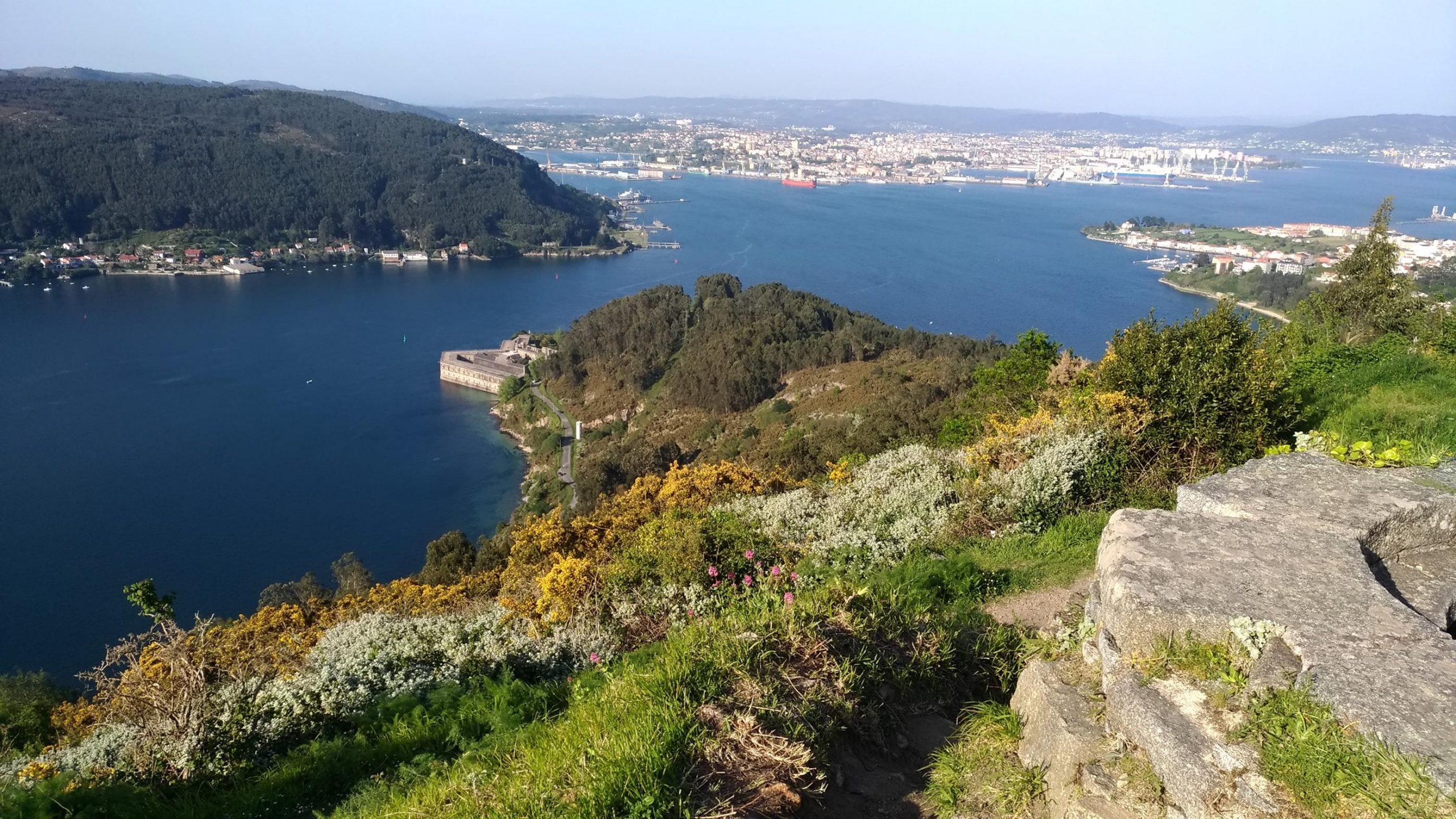 Vista de la Ria hacia Ferrol