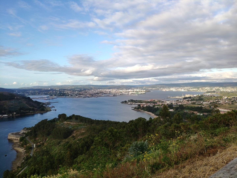 Panoramica de la ría de Ferrol desde Montefaro