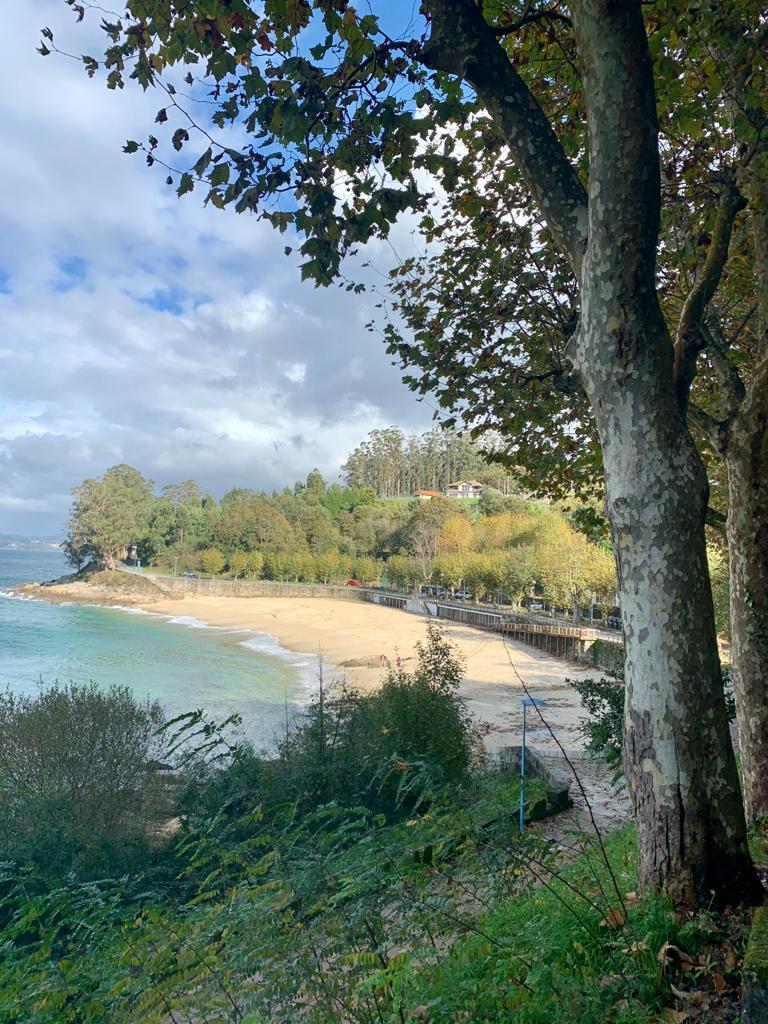 Vista de la playa de Portocelo en Marín