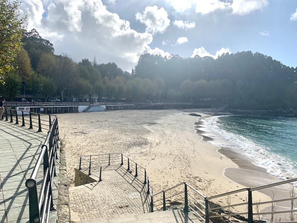Vista de la playa de Portocelo