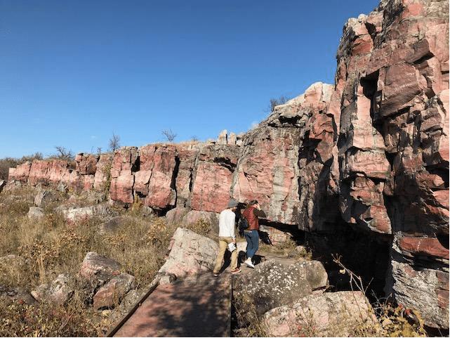 Yacimiento de piedra roja en Pipestone