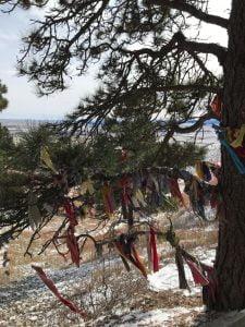 Detalle de las ofrendas en Bear Butte State Park