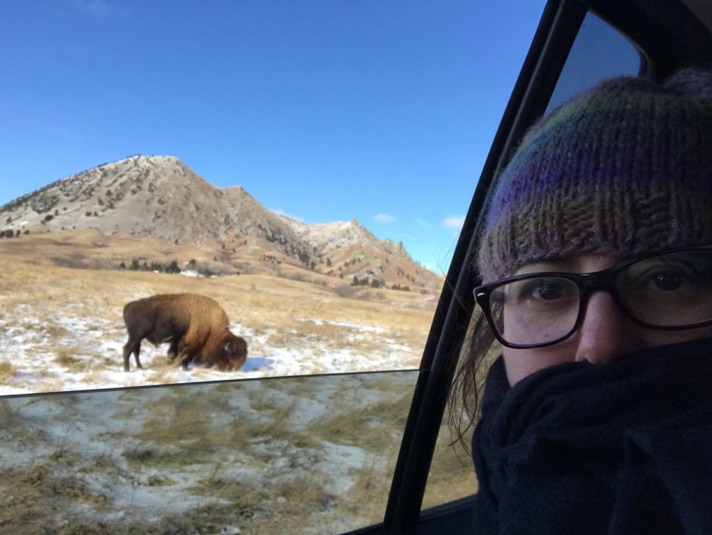 Saliendo del Bear Butte State Park