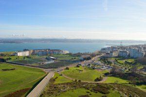 Vistas de Coruña desde la Torre de Hércules
