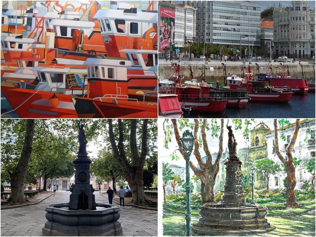 A Coruña con el pintor Jose Ramon