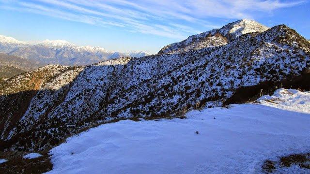 A la nieve en el Peloponeso