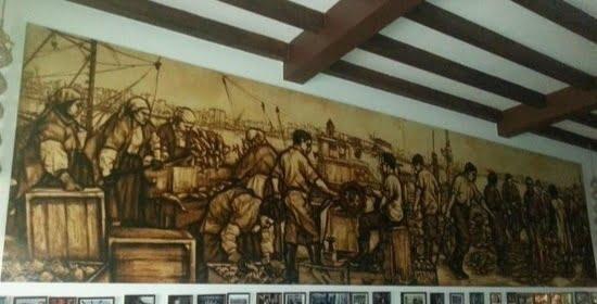 Paseo por Coruña con José Ramón mural Yéboles