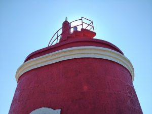 Faro de Punta Robaleira de cerca